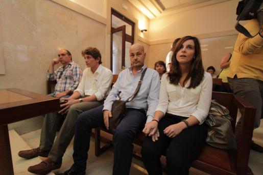 De izquierda a derecha, Antoni Oliver, Álvaro Llompart, Carlos Martínez y Sandra Díaz.