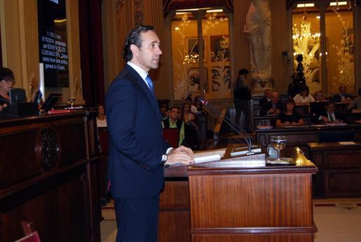 José Ramón Bauzá, durante su discurso.