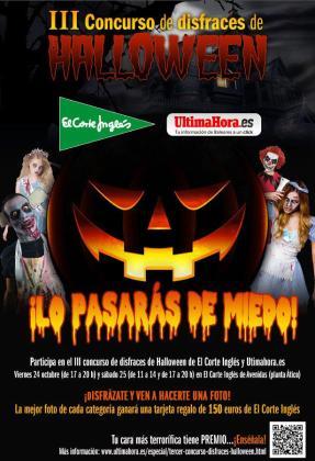 Cartel del III concurso de disfraces de Halloween.