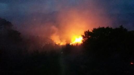 Las llamas se han propagado con gran rapidez debido al viento.