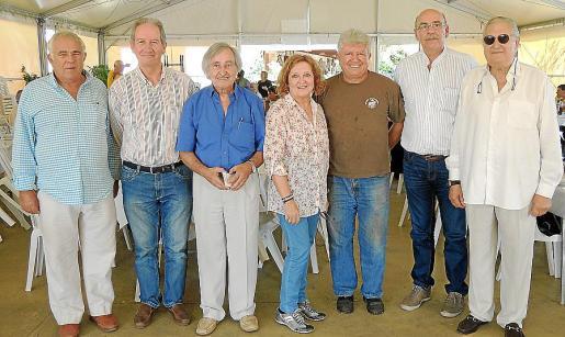 Biel Servera, Tófol Santandreu, Joan Batle, Ana Morro, Nadal Real, Tòfol Sbert y Pep Sans.