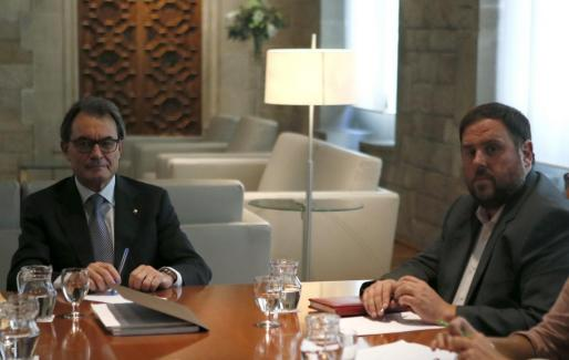 Reunión de Artur Mas con Oriol Junqueras.