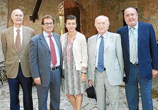 Esteban Bardolet, Llorenç Huguet, Carme Serra, Alfonso Ballesteros y Jesús Boyero.
