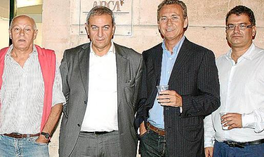 Perico Montaner, Pere Ollers, Jaume Garau y Josep Massot.
