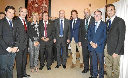 Jesús Valls, Vicenç Serra, Teresa Palmer, Miquel Bestard, Vicente del Bosque, Mateo Isern, Jaime Martínez, Joan Rotger y Javier Morente.