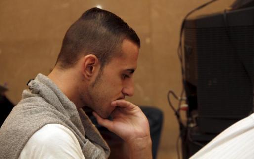 Antonio Llompart, durante el jucio por el asesinato de su madre.