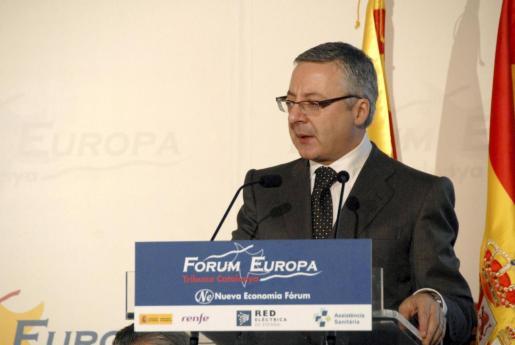 el ministro José Blanco, ayer en Barcelona donde informó sobre la cogestión.