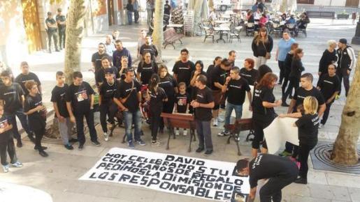 Imagen de la concentración que ha tenido lugar este jueves.