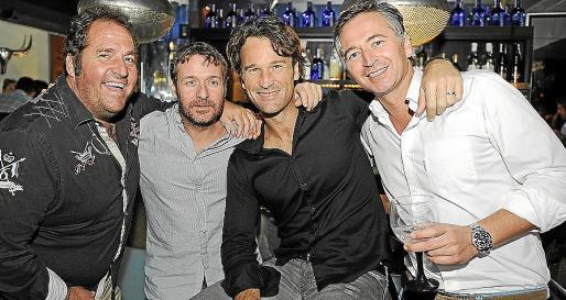 Lorenzo Fluxá, Xavier Flaquer, Carlos Moyá y Diego Ruiz.