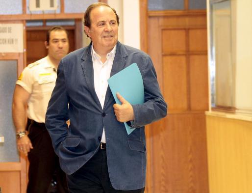 José María, a su llegada a los juzgados.