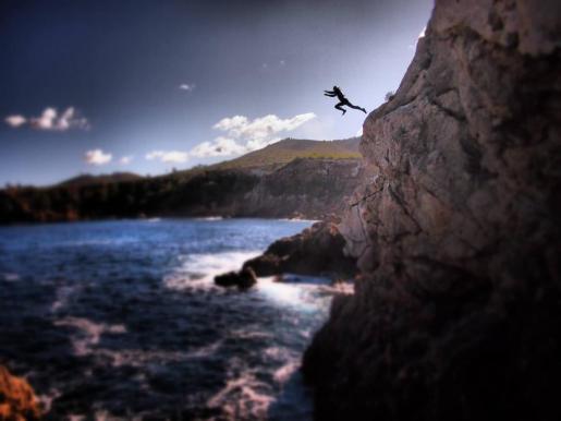 Imagen de la página de Facebook Ibiza Cliff Diving.