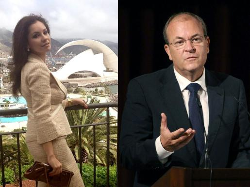 Al parecer los viajes que realizó Monago fueron para ver a su amiga Olga María (a la izquierda, en una imagen colgada en Google +) en Tenerife.