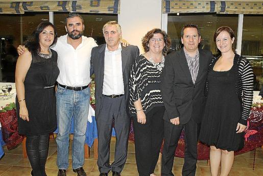Mercedes Varela, Álvaro Celdrán, Tomeu Vázquez, Catalina Cirer, Javier Cózar y Ana Ferriol.