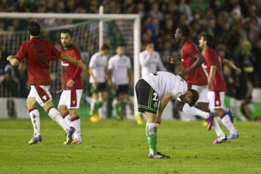Los jugadores del Real Mallorca celebran un gol en el choque de la pasada jornada en el Sardinero ante el Racing de Santander.