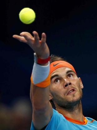 Rafael Nadal, durante un partido de tenis.