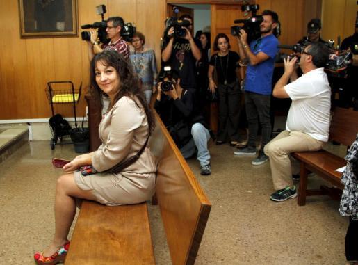 La secretaria general de CCOO en Balears, Katiana Vicens, en el banquillo del Juzgado de lo Penal número 6 de Palma.