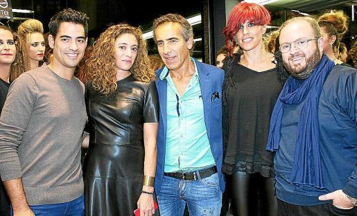 Andreu Genestra, Mercedes Fernández, Toni Iglesias, Joana Mulet y Tommy Ferragut.