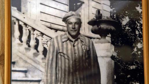 Fotografía facilitada por Optim.TV del superviviente español de más edad del campo de exterminio nazi de Mauthausen, Esteban Pérez Pérez, que ha fallecido a los 103 años en un hospital de Narbona, en el sureste de Francia.