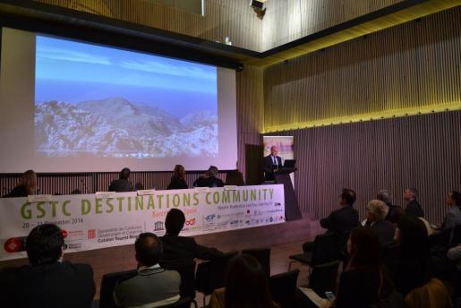 Toni Solivellas durante la primera sesión de la Conferencia 'GSTC Destinations Community'.