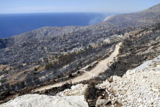 El incendio de julio de 2013 quemó más de 2.200 hectáreas en Andratx y Calvià.