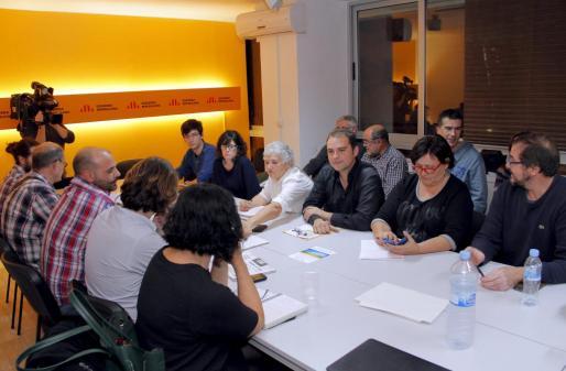 Monetdo de la reunión de la dirección de Esquerra celebrada este viernes noche.