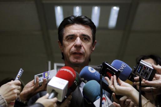 El ministro de Industria, Energía y Turismo, José Manuel Soria, tras una reciente reunión del Consejo Español de Turismo.