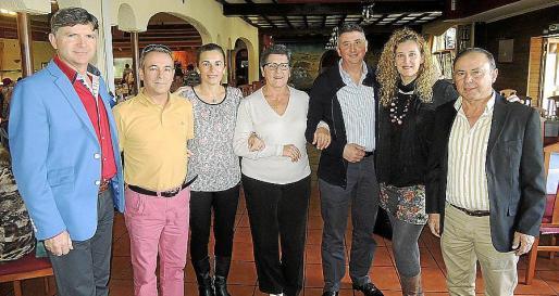 José Fernández (Pelele 2015); Juan del Brío, Ana Rodríguez, Gloria Valero, Bernat Amengual, Antonia Amengual y Eusebio Calzada.
