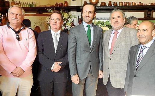 Joan Noguera, Rafel Torres, José Ramón Bauzá, Bernat Coll y Antonio Gómez.