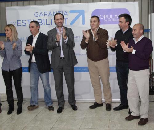 Momento del acto de presenytación de Biel Taules como candidato del PP en Felanitx.