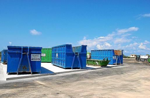 Imagen del nuevo punto verde de Llucmajor, antes de su inauguración.