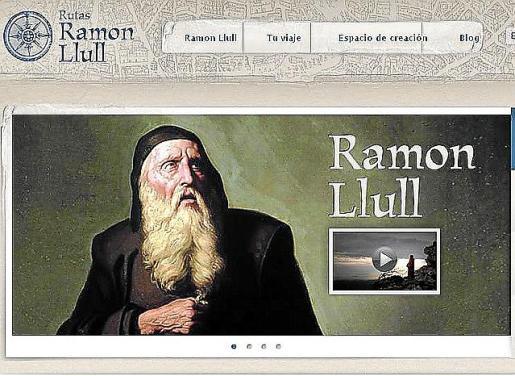 Imagen de la página web sobre Ramon Llull.