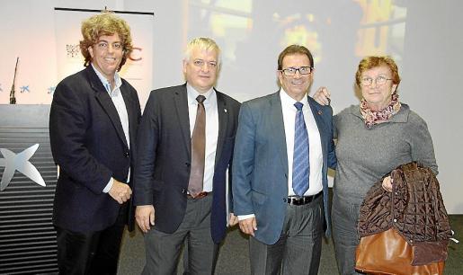 Joaquín Tintoré, José Ramón Urquijo, Llorenç Huguet y Bel Moll.