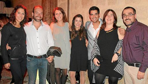 Bàrbara Capó, Fran Muñoz, Mar Clar, Xisca Capó, Andreu Genestra, Ana Arrom y José López.