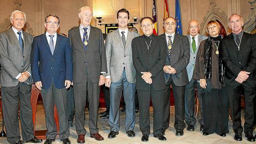 Bartomeu Anguera, Joan Rotger, Josep Conrado, Fernando Gilet, Rafa Forteza, Josep Prohens, Miquel Massot, Neus García Iniesta y Ñaco Fabré.