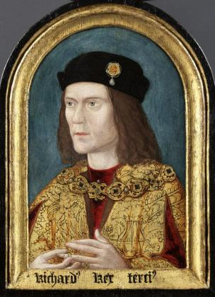 """Fotografía facilitada por la Universidad de Leicester del """"Retrato de Ricardo III"""", 2014, de la Sociedad de Antiquarios de Londres. El ADN del rey Ricardo III (1452-1485) determina que, casi con total seguridad, tenía los ojos azules y el pelo rubio, al menos en su niñez, según un estudio de la Universidad de Leicester."""