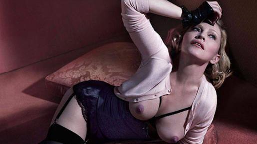 Madonna, en una de las sugerentes fotografías.