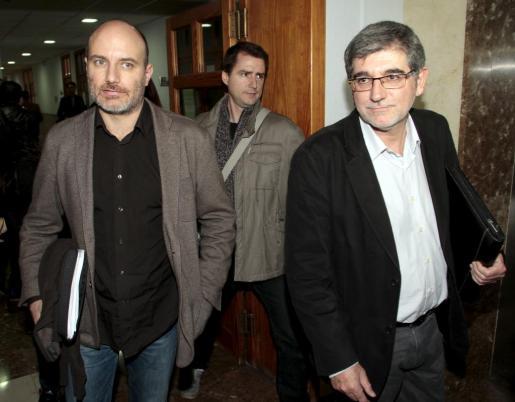 Gabriel Vicens y Antoni Verger, este miércoles en los juzgados.