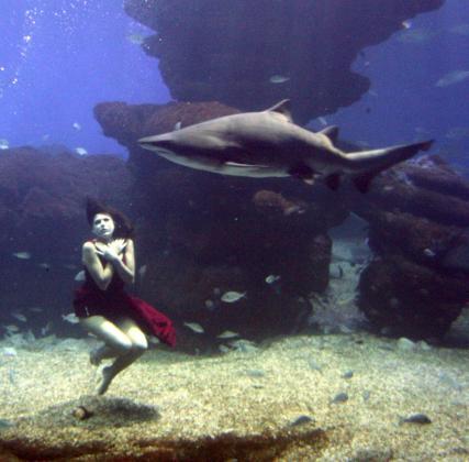 Nadine es una experta modelo subacuática.