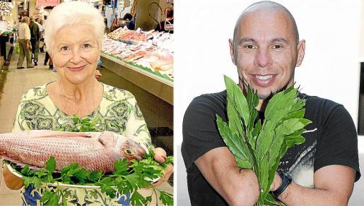 Paquita Tomás y Xavi Torres, son algunos de los personajes que salen en el libro 'Estrellas de la dieta mediterránea', patrocinado por la Unesco.