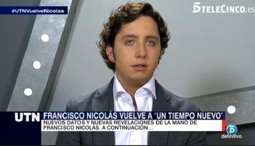 Francisco Nicolás, «el pequeño Nicolás», durante su intervención en Telecinco.