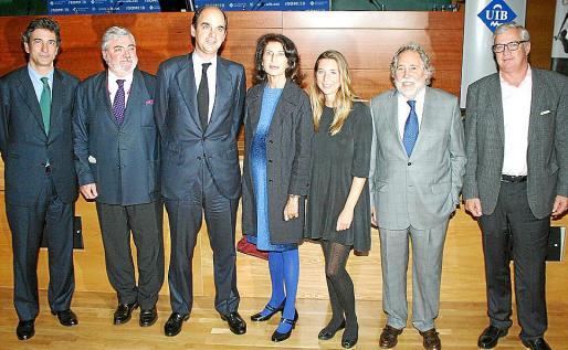 José Nieto, Rafel Salas, Juan March de la Lastra, Carmen Planas, Teresa Mier, Joan Carles Rosselló y José Luis Roses.
