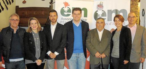 Tolo Marqués, Marga Prohens, Javier Morente, Martí Sansaloni, Andreu Anglada, Margalida Duran y Colau Terrassa.