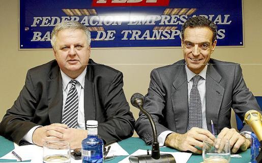 Rafael Roig y el presidente de la patronal Asintra, Rafael Barbadillo.