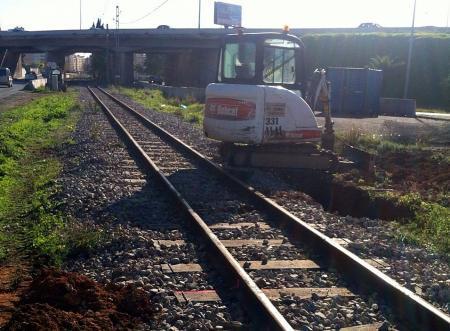 Las obras han comenzado en las víes del tren de Sóller.