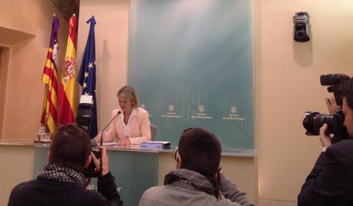 Nuria Riera, este viernes tras la reunión del Consell de Govern.