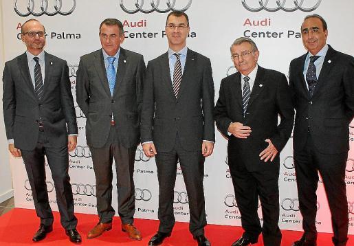 Sebastià Riusech, Luis Pol, Guillermo Fadda, Guillermo Pol y Antonio Payeras.