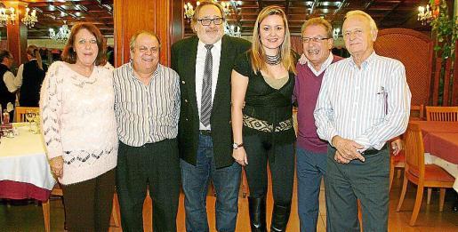 Wendy Syrett, Pepín Cañellas, José María Mulet, Caterina Ross, Felipe Rebolledo y Rafael de Pablo.