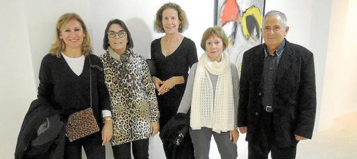Damiana Moragues, Isabel Mas, Margalida Font, Isabel Oliver y Manuel Martínez.