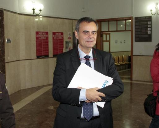 José Ramón Orta, en los juzgados este lunes.