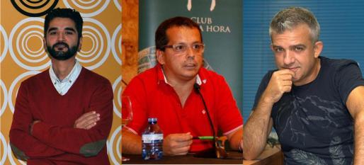De izquierda a derecha , Héctor Romero, Ricardo Galli y Benjamí Villoslada, expertos en distintas áreas relacionadas con Internet.